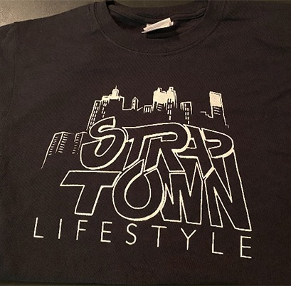 """Straptown Lifestyle"" Tee retro"